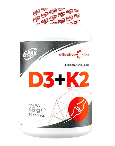 D3 + K2 - 6PAK Nutrition 90 tbl.