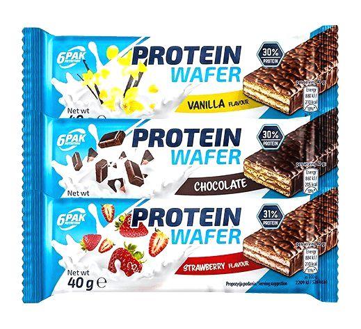 Protein Wafer - 6PAK Nutrition 40 g Strawberry