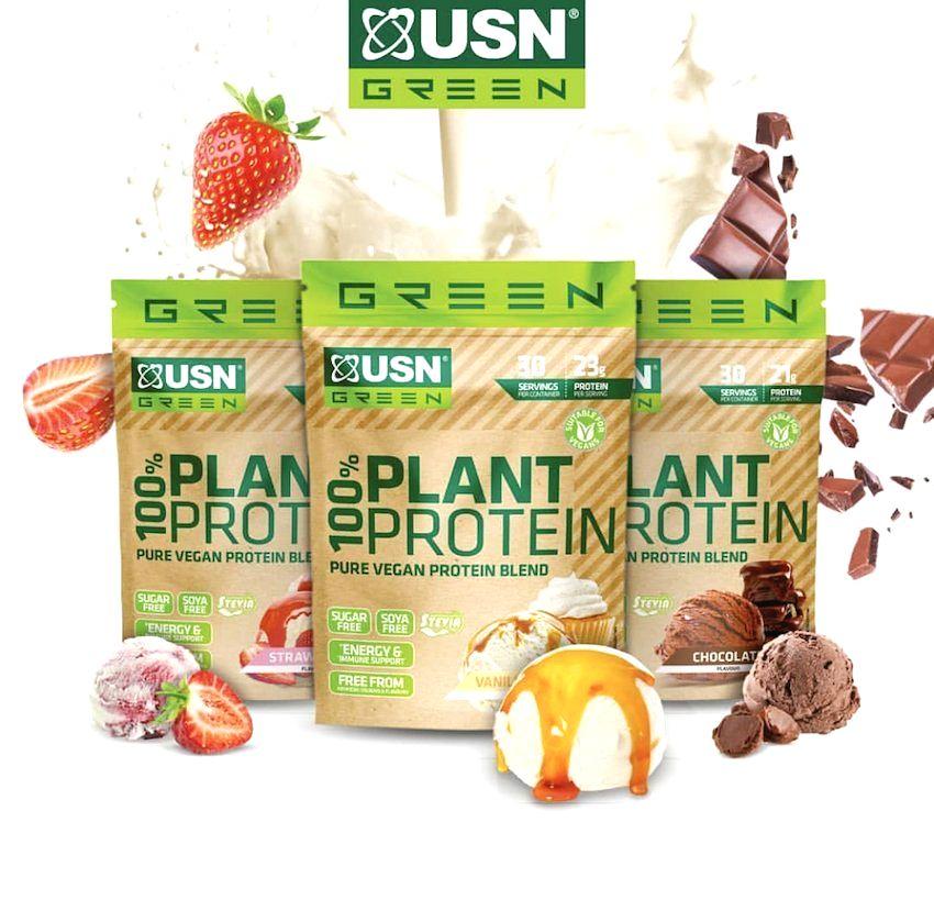 100% Plant Protein - USN 900 g Vanilla