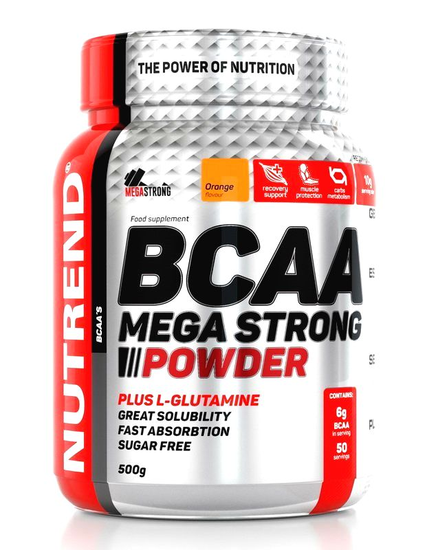 BCAA Mega Strong Powder - Nutrend 500 g Watermelon