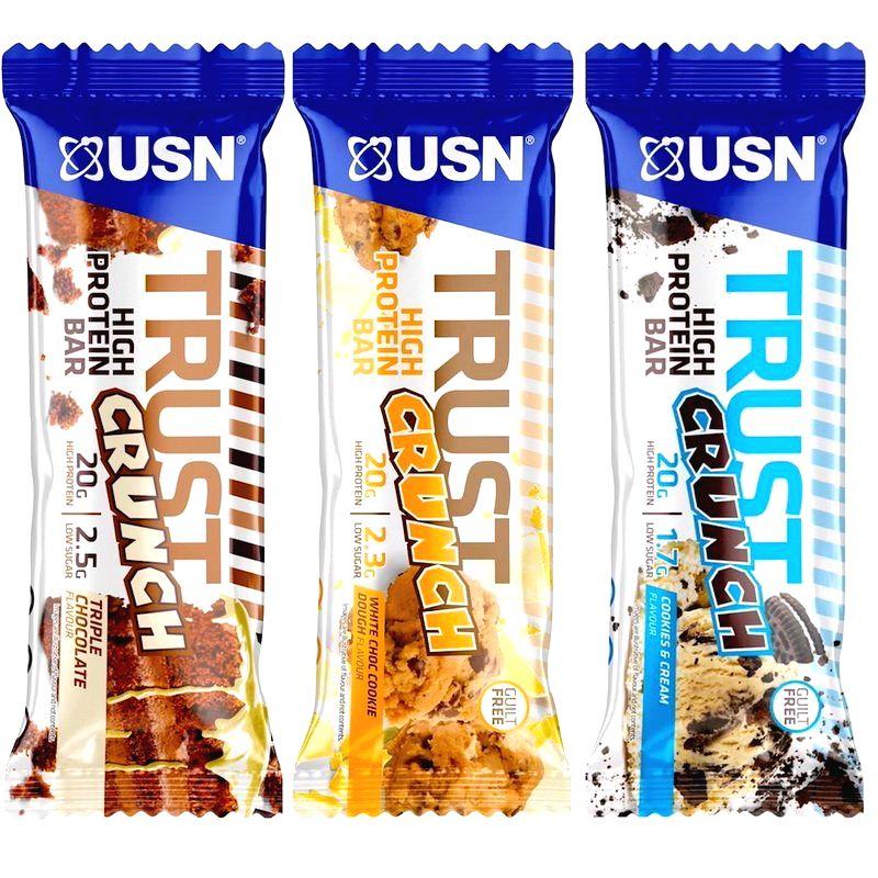 Tyčinka: Trust Crunch - USN 60 g Fudge Brownie