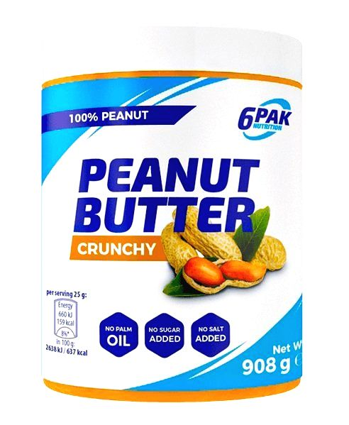 Peanut Butter - 6PAK Nutrition 908 g Smooth