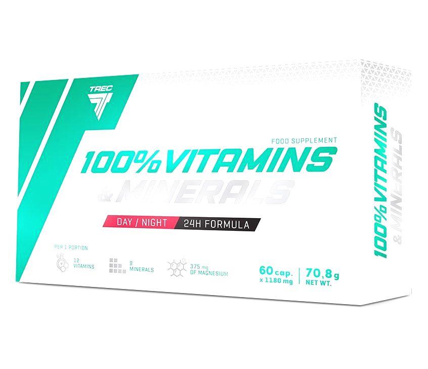 100% Vitamins & Minerals - Trec Nutrition 60 kaps.