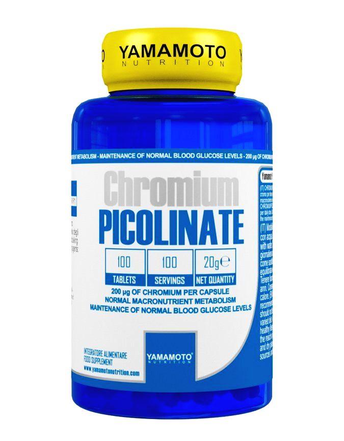 Chromium Picolinate (chróm vo forme pikolinátu) - Yamamoto  100 tbl.