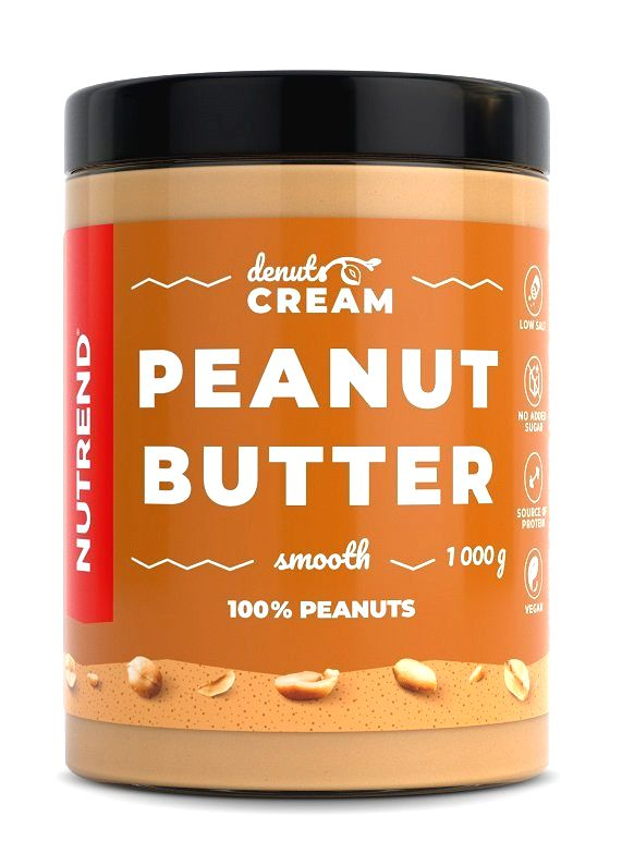 Denuts Cream Peanut Butter - Nutrend 1000 g Smooth
