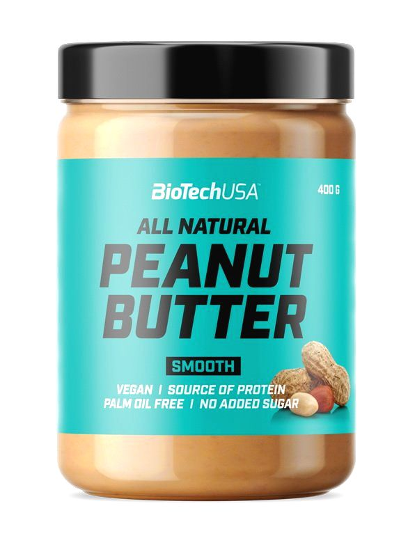 Peanut Butter All Natural - Biotech USA 400 g Smooth